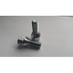 Śruba 12x1,25x28 mocująca  do felg stożek
