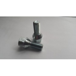 Śruba 12x1,5x28 mocująca  do felg stożek